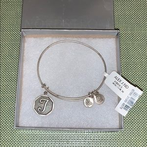 Alex and Ani letter T initial bracelet